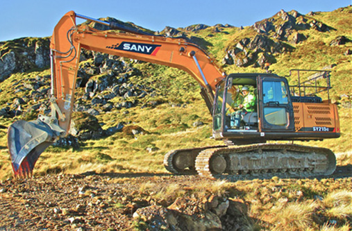 Barhaul – Two SANY SY215C working on Hydro Scheme project and Barite Mine in Scotland