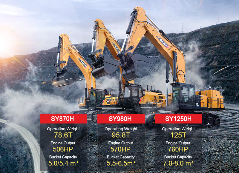 SANY Lancia una Nuova Linea di Prodotti per Escavatori Ultra-grandi